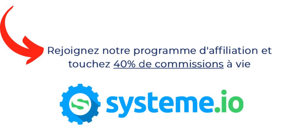 Programme d'affiliation système.io