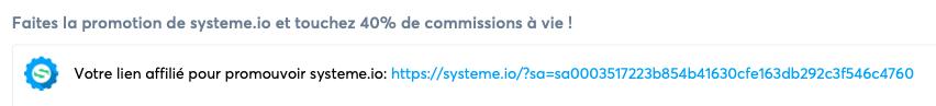 lien d'affiliation système.io